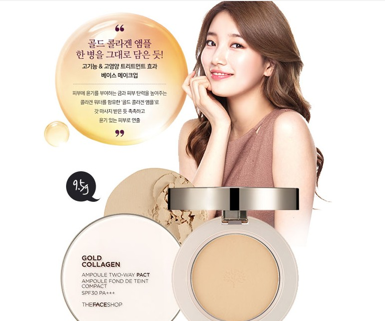 [The Face Shop] Phấn nén Collagen Gold Ampoule Two Way Pact 9.5g